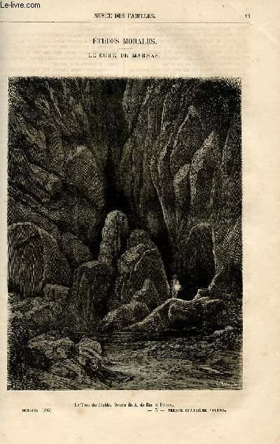 Le musée des familles - lecture du soir -  livraison n°03 et 04 - Etudes morales - Le curé de MArnas par Ch. Wallut,suite et fin.