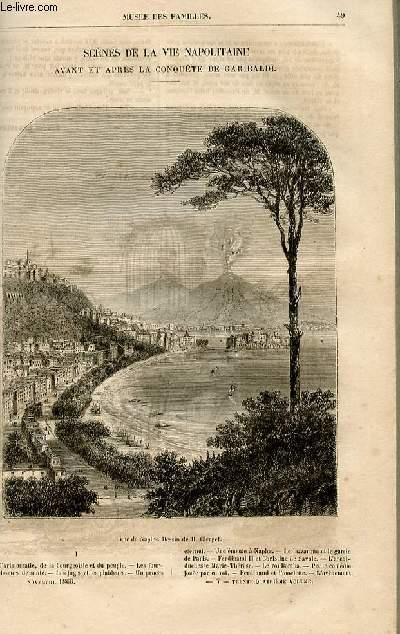 Le musée des familles - lecture du soir -  livraisons n°07 et 08 - Scènes de la vie napolitaine avant et après la conquête de Garibaldi par  la comtesse de Bassanville, à suivre.