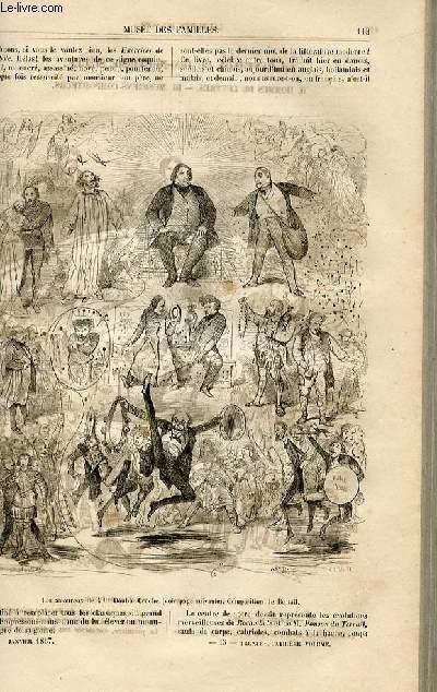 Le musée des familles - lecture du soir -  livraisons n°15 et 16 - Le panthéon du 19ème siècle - Hommes de lettres - musiciens-compositeurs,suite par Bertall.