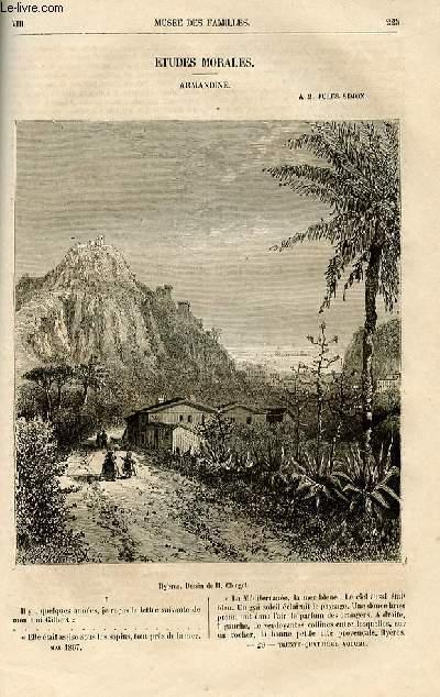 Le musée des familles - lecture du soir -  livraisons n°29 et 30 - Etudes morales - Armandine par Ch. Deslys - à M. Jules SImon.