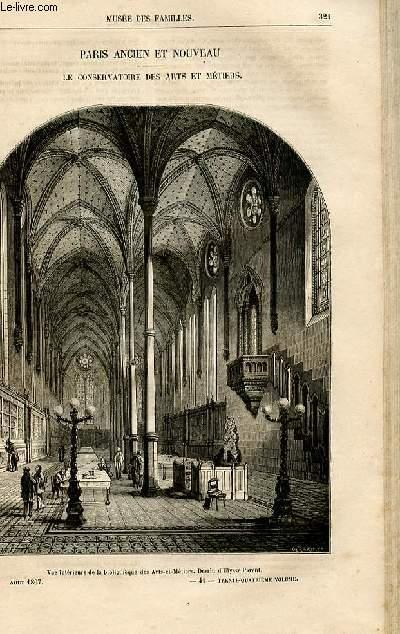 Le musée des familles - lecture du soir -  livraisons n°41 et 42 - Paris ancien et nouveau - Le conservatoire des arts et métiers par Raymond.