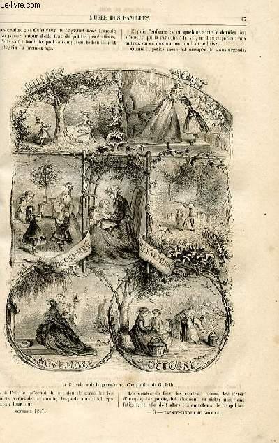 Le musée des familles - lecture du soir -  livraisons n°03 et 04 - Etudes morales au crayon - Le calendrier de la grand'mère par Geroges fath,suite et fin.