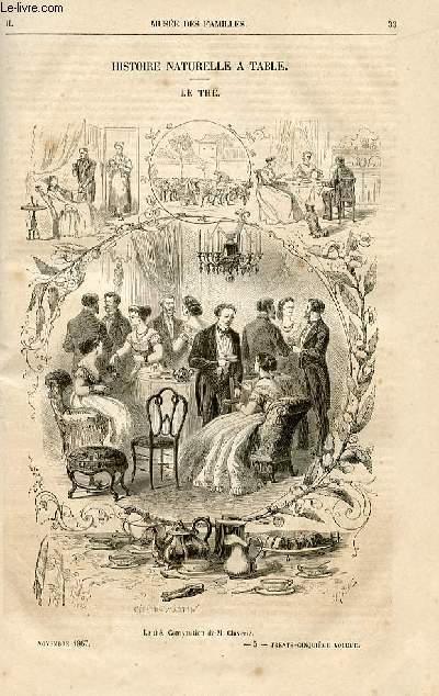 Le musée des familles - lecture du soir -  livraisons n°05 et 06 - Histoire naturelle à table - le thé par Raymond.