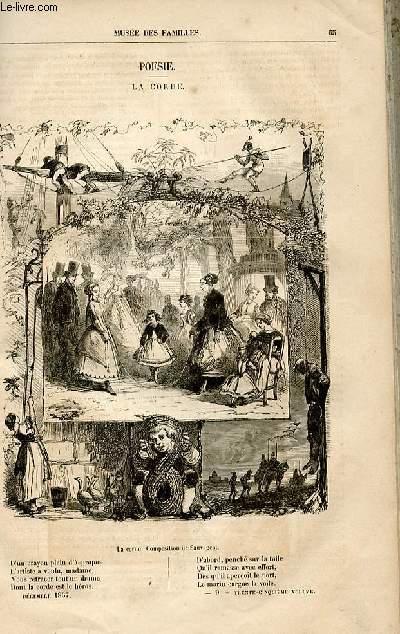 Le musée des familles - lecture du soir -  livraisons n°09 et 10 - Poésie - La corde,poésie par Ch. Raymond.