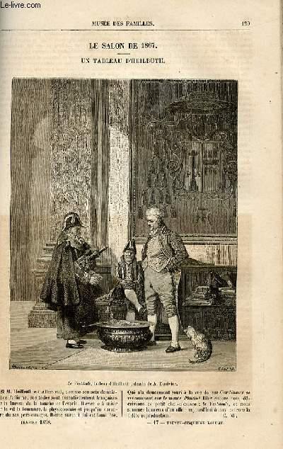 Le musée des familles - lecture du soir -  livraisons n°17 et 18 - Le salon de 1867 - un tableau d'Heilbuth (article de quelques lignes avec gravure).