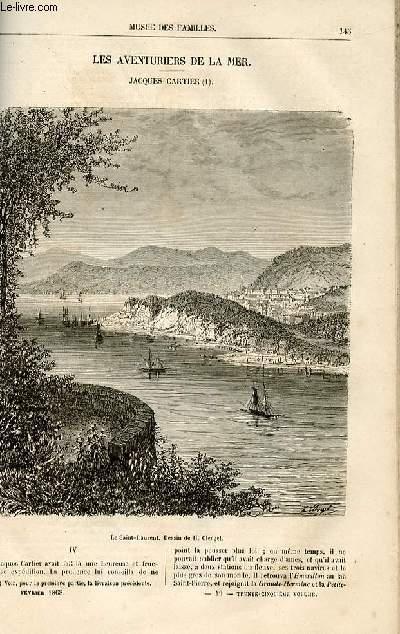 Le musée des familles - lecture du soir -  livraison n°19 - Les aventuriers de la mer - JAcques Cartier,suite et fin par Xavier Eyma.