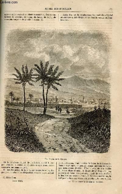 Le musée des familles - lecture du soir -  livraisons n°23 et 24 - Nouvelles et voyages - grandeur et décadence d'une oasis - à. M. Jules Verne,suite  par Wallut.