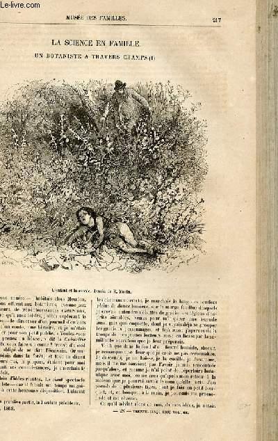 Le musée des familles - lecture du soir -  livraison n°28 - La science en famille - un botaniste à travers champs par Muller,suite.
