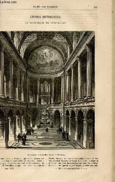 Le musée des familles - lecture du soir -  livraisons n°29 et 30 - Etudes historiques - La chronique de Versailles par Janin, à suivre.