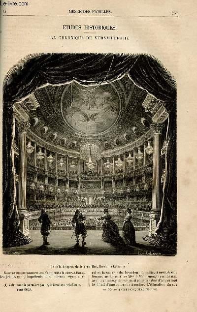 Le musée des familles - lecture du soir -  livraisons n°33 et 34 - Etudes historiques - La chronique de Versailles, suite et fin par Jules Janin.