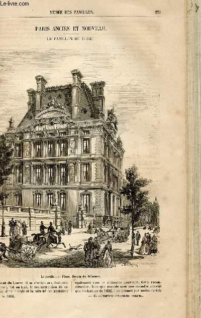 Le musée des familles - lecture du soir -  livraisons n°35 et 36 - Paris ancien et nouveau - le pavillon de flore par Renaudin.