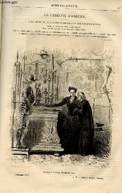 Le musée des familles - lecture du soir -  livraison n°09 - Le crucifix d'argent - à la mémoire de ma chère soeur Camille Brazier Janin par Jules Janin, à suivrE.