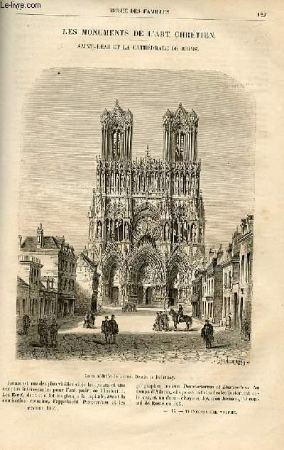 Le musée des familles - lecture du soir -  livraisons n°17 et 18 - Les monuments de l'art chrétien - Saint Remi et la cathédrâle de Reims par Ch. Raymond.
