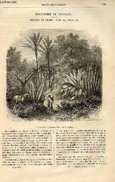 Le musée des familles - lecture du soir -  livraisons n°22 et 23 - Souvenirs de voyages  - chasses et pêches dans le Yucatan par bénédict Henry Révoil.