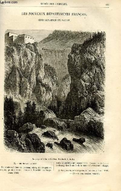 Le musée des familles - lecture du soir -  livraisons n°25 et 26 - Les nouveaux départements français - Cinq semaines en Savoie par Alexandre de Bar.
