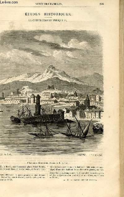 Le musée des familles - lecture du soir -  livraisons n°37 et 38 - Etudes historiques - La conjuration de Fiesque (Fiesco - Gênes) par Genevay,à suivre.