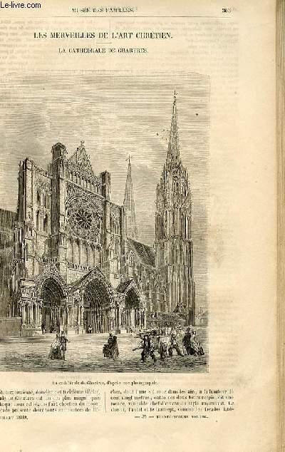 Le musée des familles - lecture du soir -  livraisons n°39 et 40 - Les merveilles de l'art chrétien - la cathédrâle de Chartres.