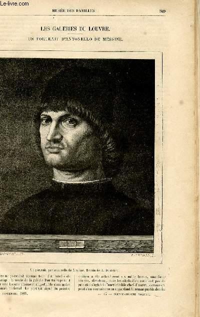 Le musée des familles - lecture du soir -  livraisons n°47 et 48 - Un portrait d'Antonello de Messine (galeries du Louvre).