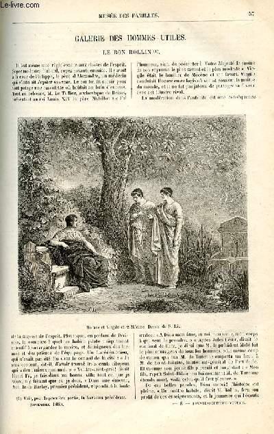 Le musée des familles - lecture du soir -  livraison n°08 - Galerie des hommes utiles - le bon Rollin,suite  par Janin.