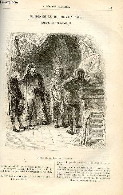 Le musée des familles - lecture du soir -  livraisons n°11 et 12 - Chroniques du Moyen Age - Sabine de Steinbach ,suite par De Navery.