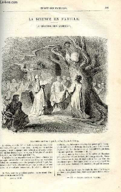 Le musée des familles - lecture du soir -  livraison n°14 et 15 - La légendes des arbres par E Muller, à suivre.