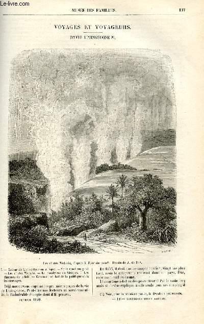 Le musée des familles - lecture du soir -  livraisons n°18 et 19 - Voyages et voyageurs - David Livingstone par Cortambert.