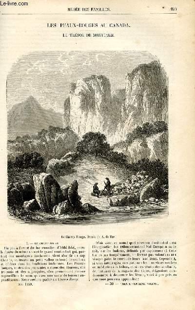 Le musée des familles - lecture du soir -  livraisons n°30 et 31 - Les PEaux Rouges au Canada - Le trésor de Montcalm par H. de la Blanchère,à suivre.