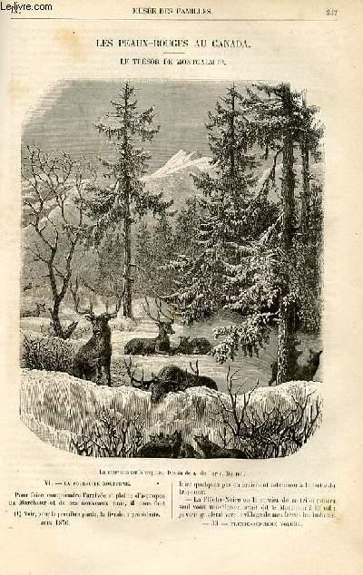 Le musée des familles - lecture du soir -  livraisons n°33 et 34 - Les Peaux Rouges au Canda - Le trésor de Montcalm par  H. de la Blanchère,suite.
