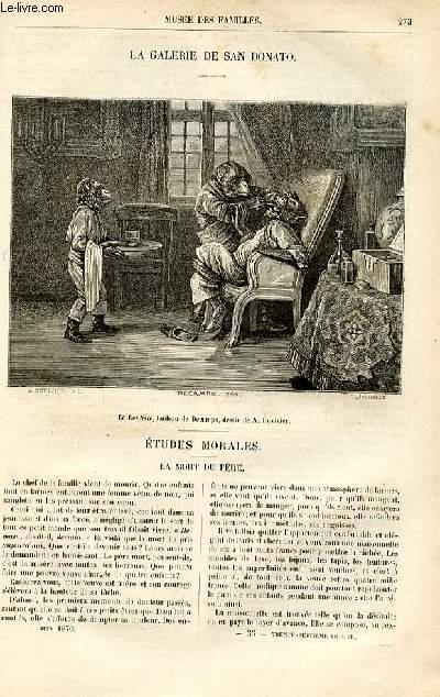 Le musée des familles - lecture du soir -  livraison n°35 -Etudes morales - La mort du père par Adèle Toussaint, née Samson.