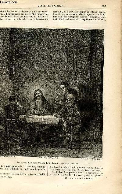 Le musée des familles - lecture du soir -  livraisons n°43 et 44 - La peinture et les peintres hollandais - Rembrandt Harmens Van Rijn,suite par Genevay.