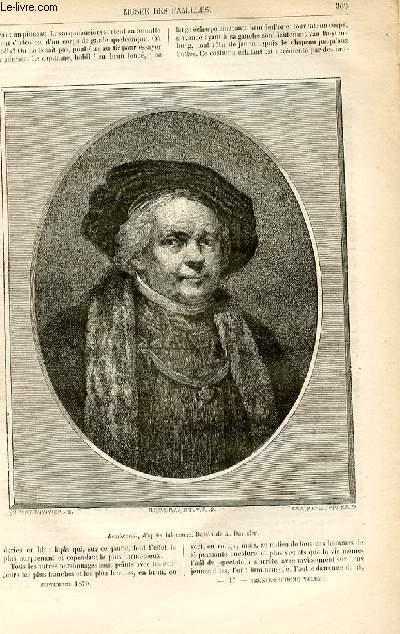 Le musée des familles - lecture du soir -  livraisons n°47 et 48 - La peinture et les peintres hollandais - Rembrandt Harmens Van Rijn ,suite et fin par Genevay.