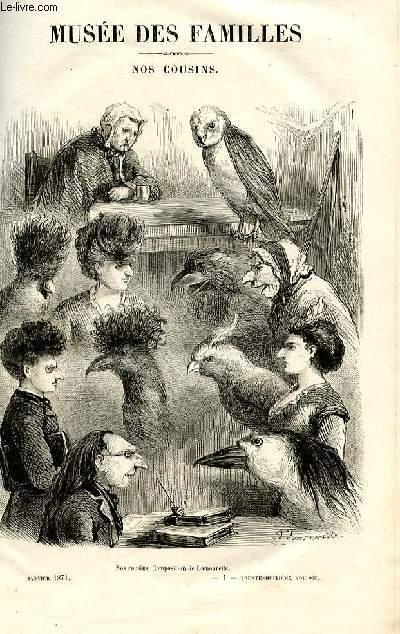 Le musée des familles - lecture du soir -  livraisons n°01 et 02 - Nos cousins par  Anaïs Ségalas, poème.