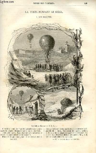 Le musée des familles - lecture du soir -  livraisons n°17 et 18 - La poste pendant le siège (à suivre) - Les ballons par Georges fath.