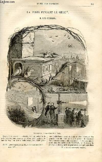 Le musée des familles - lecture du soir -  livraisons n°21 et 22 - La poste pendant le siège,suite - les pigeons par Georges Fath.