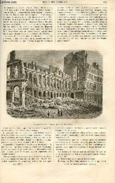 Le musée des familles - lecture du soir -  livraisons n°23 et 24 - La guerre civile - les ruines par Genevay,suite.