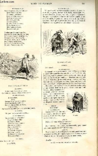 Le musée des familles - lecture du soir -  livraison n°32 - Le spectacle en famille - les deux cousines ,opéra-comique en un acte, parRaymond,suite.