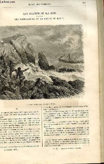Le musée des familles - lecture du soir -  livraisons n°34 et 35 - Les drames de la mer - Les naufrageurs de la Pointe du Raz,suite et fin par Dubarry.