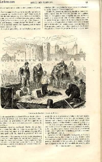 Le musée des familles - lecture du soir -  livraisons n°11 et 12 - Les révolutions d'autrefois - Milton, suite par Genevay (1 page recto-verso).
