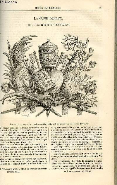 Le musée des familles - lecture du soir -  livraison n°08 - La Curie romaine - les mitres et les tiares,suite et fin par Dubarry.