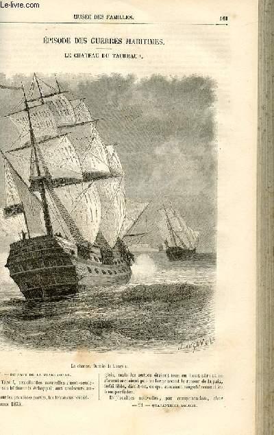 Le musée des familles - lecture du soir -  livraisons n°21 et 22 - Episode des guerres maritimes - Le château du taureau par De La Landelle,suite.