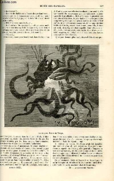 Le musée des familles - lecture du soir -  livraison n°28 - Fantaisies scientifiques - SOus les eaux par De La Blanchère,suite.