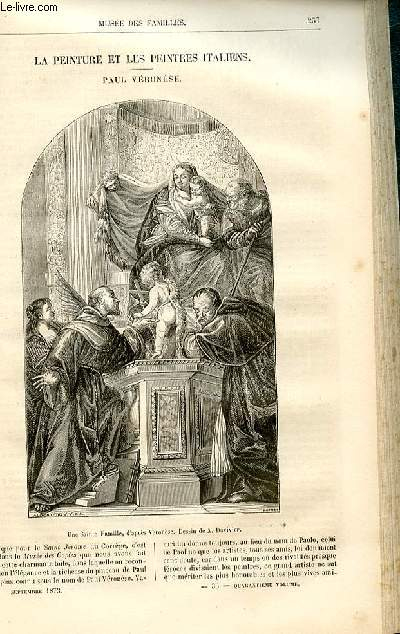 Le musée des familles - lecture du soir -  livraison n°33 - La peinture et les peintres italiens - Paul véronèse par Raymond.
