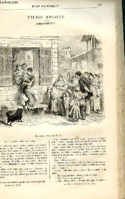 Le musée des familles - lecture du soir -  livraison n°34 - Etudes morales - Robinsonette par Muller,suite.