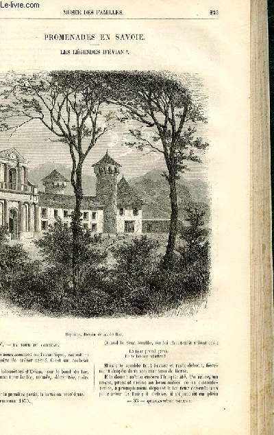Le musée des familles - lecture du soir -  livraisons n°35 et 36 - Promenades en SAvoie - les légendes d'Evian,suite par Deslys.