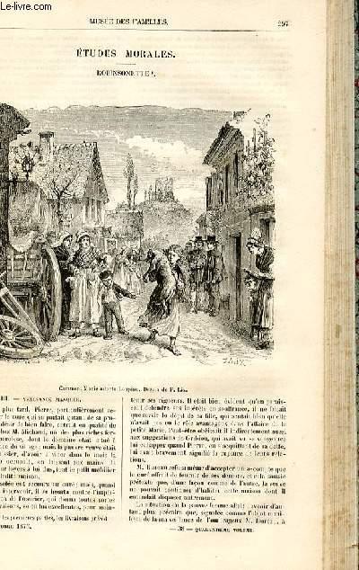 Le musée des familles - lecture du soir -  livraison n°38 - Etudes morales - Robinsonette par Muller,suite.
