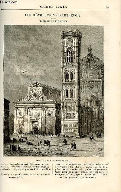 Le musée des familles - lecture du soir -  livraison n°05 - Les révolutions d'autrefois - le siège de Florence par Genevay,suite.