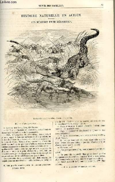 Le musée des familles - lecture du soir -  livraisons n°06 et 07 - Histoire naturelle en action - les mémoires d'une ménagerie par De La Blanchère,suite.