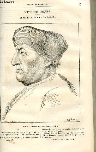 Le musée des familles - lecture du soir -  livraisons n°13 et 14 - Scènes historiques - Charles X, roi de al Ligue par Augustin Challamel,suite et fin.