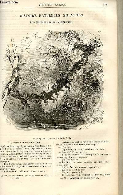 Le musée des familles - lecture du soir -  livraison n°23 et 24 - Histoire naturelle en action - Les mémoires d'une ménagerie par De La Blanchère,suite.