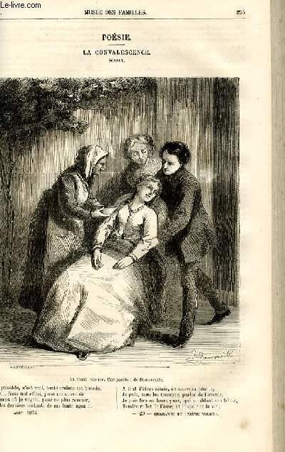 Le musée des familles - lecture du soir -  livraison n°29 - Poésie - La convalescence,sonnet par C.D.